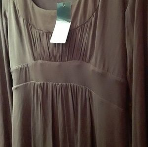 BCBGMaxazria m jersey knit dress brown NEW tags